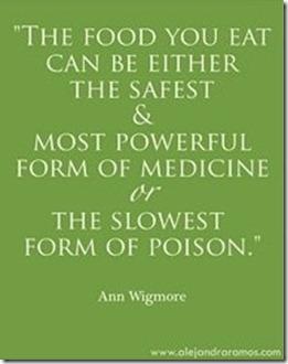 food is medication
